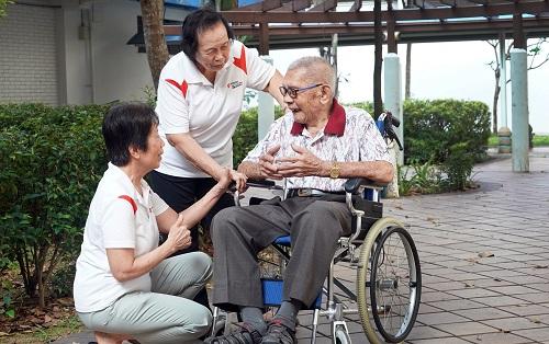 Lending support to fellow seniors