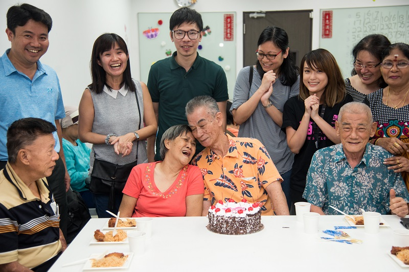 Enjoying their golden years with others